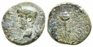 obverse: Nerone (54-68). Aiolis, Elaia. AE Bronzo (17 mm. - 3,34 gr.). qBB-MB. R1.