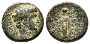 obverse: Tiberius (14-37). Phrygia. Laodikeia ad Lycum. AE Bronzo (17 mm. - 5,93 gr.). BB. R1