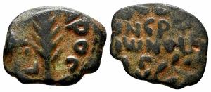 obverse: Judaea, Jerusalem. Porcius Festus (59-62). AE Prutah (17 mm. - 2.04 gr.). MB. NC.