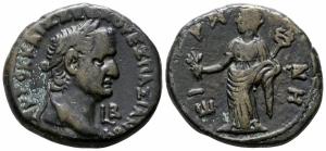 obverse: Vespasianus (69-79), Egypt. Alexandria. Mi Tetradramma (24 mm. - 12.27 gr.). qBB. NC.