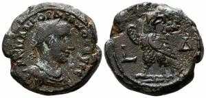 obverse: Gordianus III (238-244). Egypt, Alexandria. Mi Tetradramma (23 mm. - 11.36 gr.). qBB. NC.