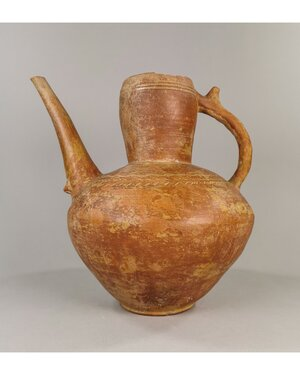 obverse: LARGE BACTRIAN TERRACOTTA POURING VESSEL