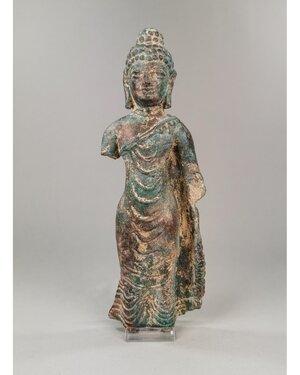 obverse: GANDHARA BRONZE STANDING BUDDHA