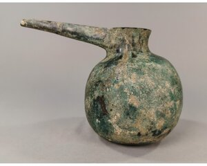 obverse: WESTERN ASIATIC BRONZE POURING VESSEL