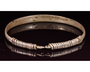 obverse: VIKING SILVER BRACELET WITH COILED CLASP