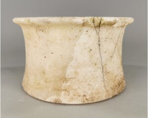 obverse: EGYPTIAN ALABASTER STORAGE JAR