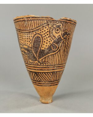 obverse: INDUS VALLEY TERRACOTTA DRINKING CUP