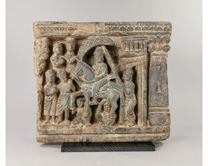 obverse: AMAZING GANDHARA SCHIST PANEL OF BUDDHA