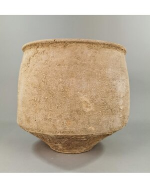obverse: BACTRIAN TERRACOTTA STORAGE VESSEL
