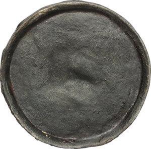reverse: Carlo V detto il Saggio (1338-1380), re di Francia.. Calco di sigillo di Carlo V di Francia da Delfino (ante 1364), fattura ottocentesca