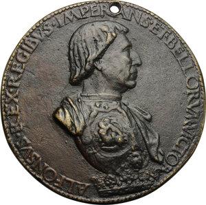 obverse: Alfonso d Aragona (1416-1458). Medaglia