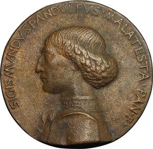 obverse: Sigismondo Pandolfo Malatesta (1432-1468), Signore di Rimini.. Medaglia del Castello