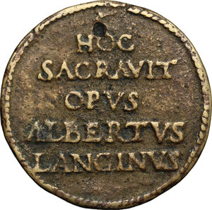 reverse: Alberto Lancino. Medaglia 1477
