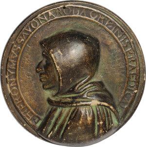 obverse: Girolamo Savonarola (1452-1498). Placchetta in ceramica