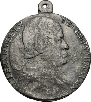 obverse: Clemente Grosso della Rovere (1462-1504), vescovo di Mende.. Placchetta unifacie
