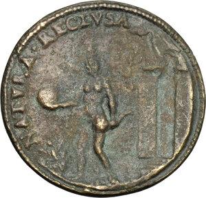 reverse: Giovanni Battista della Porta (1535-1615), filosofo e alchimista.. Medaglia celebrativa