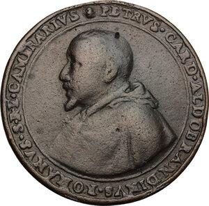 obverse: Pietro Aldobrandini (1571-1621), cardinale. Medaglia 1603