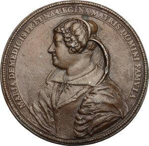 obverse: Maria de  Medici, Regina di Francia (1575-1642).. Medaglia 1644