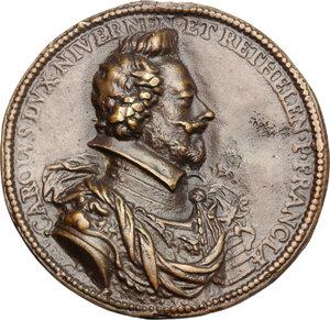 obverse: Carlo I Gonzaga Nevers (1627-1637).. Medaglia 1608