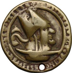 obverse: Medaglia satirica anticlericale, XVII sec