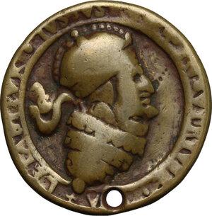 reverse: Medaglia satirica anticlericale, XVII sec