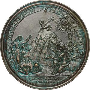 reverse: Giancarlo Rossetti (1712- dopo il 1761), carmelitano con il nome di Marco di San Francesco.. Medaglia 1748 con bordo modanato