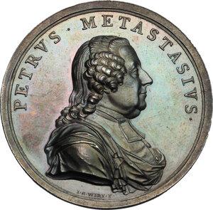 obverse: Pietro Metastasio (1698-1782), Poeta. Medaglia 1782