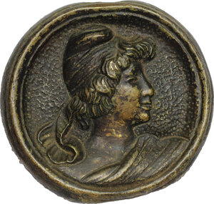 obverse: Didone Regina di Cartagine.. Placca decorativa uniface rappresentante Didone (?), XIX sec. (?)