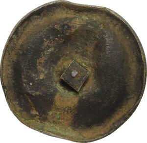 reverse: Didone Regina di Cartagine.. Placca decorativa uniface rappresentante Didone (?), XIX sec. (?)