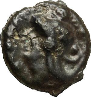 obverse: Northeast Gaul, Leuci. Potin Unit, c. 100-50 BC