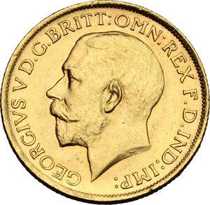 obverse: Australia.  George V (1910-1936). Sovereign 1915, Sidney mint