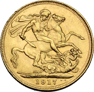 reverse: Australia.  George V (1910-1936). Sovereign 1915, Sidney mint