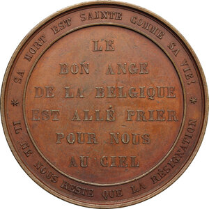 reverse: Belgium.  Louise of Orléans (1812-1850), Queen of the Belgians.. Medal for the death