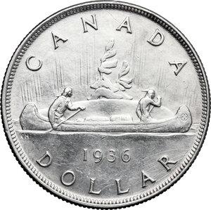 reverse: Canada.  George V (1910-1936).. Dollar 1936