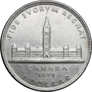 reverse: Canada.  George VI (1936-1952).. Dollar 1939
