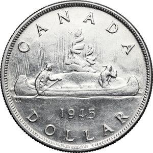 reverse: Canada.  George VI (1936-1952).. Dollar 1945