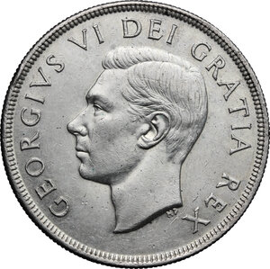 obverse: Canada.  George VI (1936-1952).. Dollar 1950