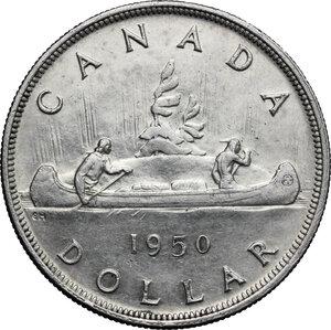 reverse: Canada.  George VI (1936-1952).. Dollar 1950