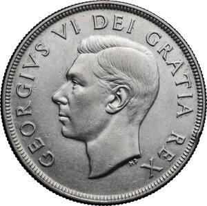 obverse: Canada.  George VI (1936-1952).. Dollar 1951