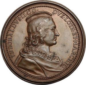 obverse: France.  Theobald II of Navarre (1239-1270), King of Navarre.. Medal