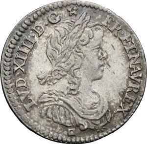 obverse: France.  Louis XIV (1643-1715). 1/12 ecu a la meche longue 1660 I, Limoges mint