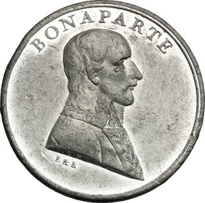 obverse: France.  Napoleon as First Consul (1799-1804). . Medal 1801, struck in Birmingham by Kempson and Kindon