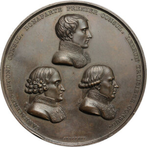 obverse: France.  Napoleon as First Consul (1799-1804). . Medal 20 May 1802 for the Promulgation of the Treaty of Amiens