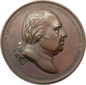 obverse: France.  Louis XVIII (1814-1824), King of France. Medal for the Restoration of Henri IV Equestrian Statue, 1817