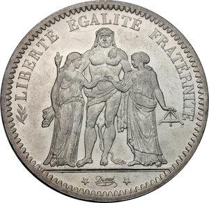 obverse: France.  Third republic (1871-1940).. 5 francs 1875 A, Paris mint
