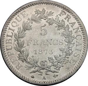 reverse: France.  Third republic (1871-1940).. 5 francs 1875 A, Paris mint