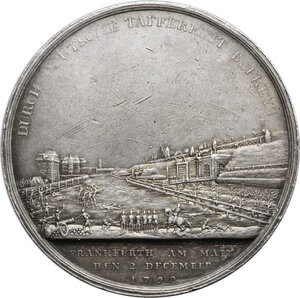 reverse: Germania, Hessen.  Wilhelm IX (1785-1803), Landgrave of Hesse-Kassel. . Medal for the reconquest of Frankfurt by Prussian and Hessian troops, 1792