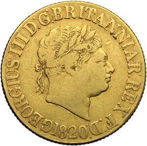 obverse: Great Britain.  George III (1760-1820).. Sovereign 1820