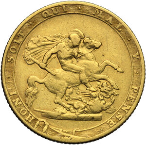 reverse: Great Britain.  George III (1760-1820).. Sovereign 1820
