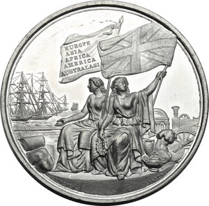 obverse: Great Britain. Medal for the International Exhibition, 1862